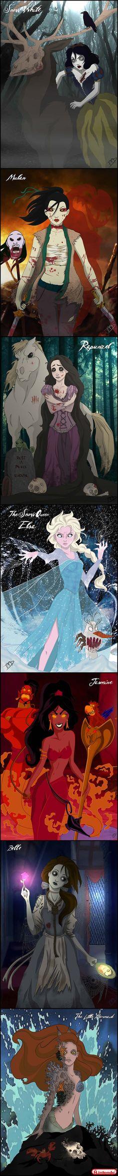 Princesas Da Disney Em Seu Formato Mais Macabro