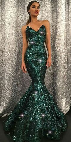 Evening Dress V-neck, Sequin Prom Dresses, V Neck Prom Dresses, Long Prom Dresses, Mermaid Prom Dresses Prom Dresses Long Dark Green Prom Dresses, Glitter Prom Dresses, Mermaid Prom Dresses, Cheap Prom Dresses, Sparkly Gowns, Sequin Formal Dress, Beaded Prom Dress, Formal Dresses, Green Sequin Dress