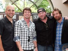 Johnny Bulford (left), Jon Stone, Lee Brice and Phil Bar http://allmusiclive.com/lee-brice-joins-songwriters-to-salute-success-of-a-woman-like-you-2/