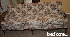 Before & After: The Pretty Painted Sofa Makeover — Fabric Bliss