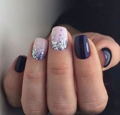 trendy square nail art ideas for short acrylic 17 ~ thereds. Stylish Nails, Trendy Nails, Cute Nails, My Nails, Pin On, Purple Nails, Turquoise Toe Nails, Dipped Nails, Color Street Nails