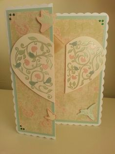 Another angle of the hunkydory card I made