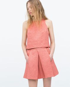 ZARA - COLLECTION SS15 - PLEATED SKIRT