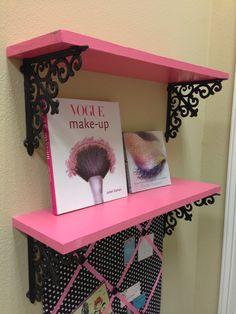 DIY Tutorial: Using Hobby Lobby brackets to make cute shelves in any color! DIY Tutorial: Using Hobby Lobby brackets to make cute shelves in any color!