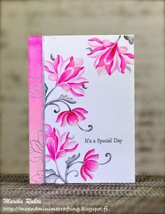 Floral card by Marika