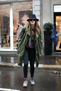 Fashion Outfits Milan Love Fwbvk Autumn Weeks Jacket Parka Fashion wxqR7aqX