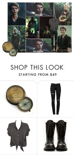 """You're Cute. Can I Keep You? - Once Upon A Time - Peter Pan & Tinker Bell"" by aliiceroseee ❤ liked on Polyvore featuring INC International Concepts, Frame Denim, Evil Twin, Rick Owens, peterpan, ouat, tinkerbell, robbiekay and RoseMcIver"