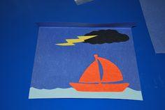 Jesus calms the storm: Lift the flap  craft.