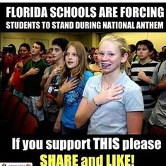 Now if they can just get our adult politicians and rich athletes to stand and show their respect! Lead by example is what I was taught. Independance Day, American Pride, American Anthem, Conservative Politics, Political Views, National Anthem, God Bless America, Current Events, Donald Trump