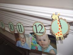 1st birthday photo banner