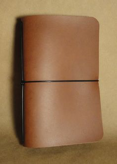 Simple 35x55 Leather Notebook Cover  Horween Acorn by DavisLeather, $15.00