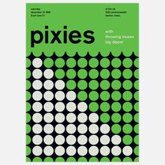 The Pixies 1986 concert poster print