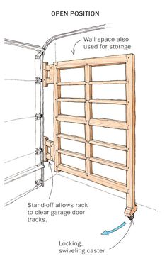 Looking for good tool storage system, but don't have the wall space for lots of hanging racks and panels? This swinging rack might be your perfect tool storage solution. Learn how to build a system that will add wall space to a tiny shop.