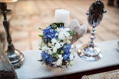 Flowers of Soul: Lumanari de botez Table Decorations, Home Decor, Blue Prints, Bebe, Decoration Home, Room Decor, Home Interior Design, Dinner Table Decorations, Home Decoration