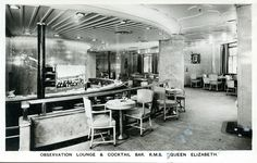 Observation Lounge and Cocktail Bar, RMS Queen Elizabeth I