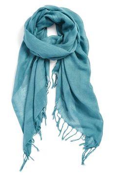 Must have Caslon linen blend summer weight scarf in Teal Britt.