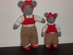 HAND KNITTED 2 X MISS MOUSE CBEEBIES SHOW ME SHOW ME PROGRAME/MICE