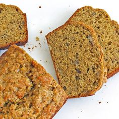 """Banana Bread with Spelt, Walnuts and Flaxseed. This bread tasted awesome. The only substitution I made was pecans instead of walnuts. It was a healthy option that didn't taste """"healthy"""". :)"""
