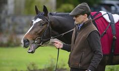 Aidan O'Brien with US Army Ranger at his stables in Ballydoyle Monday morning.