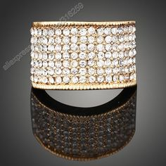Claire Jin white rhinestone band ring from clairejin.aliexpress.com