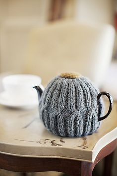Ravelry: Anniversary Tea Cozy pattern by Churchmouse Yarns and Teas.