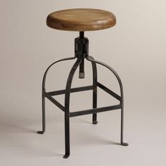 Twist Swivel Stool - love the industrial farmhouse appeal