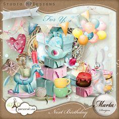 Next Birthday Digital Scrapbooking, Digital Papers, Kit, Paper Packs, Birthday, Yandex, Boutique, Design, Places