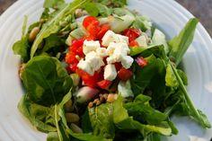 Mediterranean Salad with Sun-Dried Tomato Vinaigrette