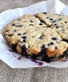 Paleo Blueberry Scones  Adapted from PaleOMG's recipe for Lavender & Vanilla Bean Scones  Makes 8 bars  Ingredients:  1 ½ cups Cashe...