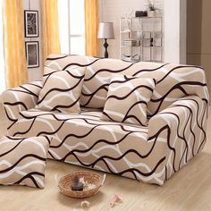 Simple Striped Patchwork Elastic Sofa Cover Spandex Sofa Slipcovers Cheap  Modern Sofas Cover Fabri For Couch