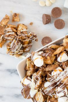 Better Than Sex Chex Mix - February 10 2019 at - and Inspiration - Yummy Meals - Recipes Ideas - And Kitchen Motivation - Delicious Comfort Foods - Fans Of Food Addiction - Decadent Lifestyle Choices Chex Mix Recipes, Snack Recipes, Dessert Recipes, Popcorn Recipes, Easy Desserts, Delicious Desserts, Yummy Food, Cheap Party Snacks, Pool Snacks