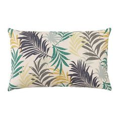 Ikea Gillhov Cushion Cover Pillow (Insert Separate) Multi-Color Leaf 16 X 26