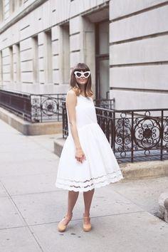 vestido blanco en verano   Pepaloves