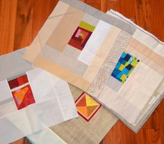 Improv Sampler - in progress by shecanquilt Quilting Tips, Quilting Tutorials, Quilting Projects, Sewing Projects, Small Quilts, Mini Quilts, Baby Quilts, Contemporary Quilts, Quilt Modern