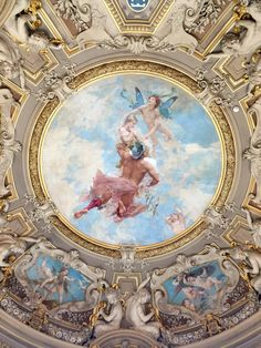 Visiting the Chateau de Chantilly - Road Trips around the World Ceiling Painting, Ceiling Murals, Musée Rodin, Baroque Painting, Renaissance Art, Mural Art, Beauty Art, Aesthetic Art, Art And Architecture