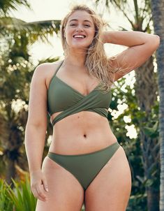 Aerie Cheeky Bikini Bottom, Olive Fun | Aerie for American Eagle