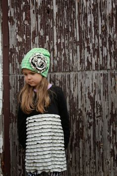 handmade girls dress and beanie