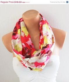 BIG SALE Infinity Scarf Loop Scarf Circle Scarf Cowl by fairstore, $9.00