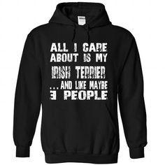 IRISH TERRIER The Awesome T Shirts, Hoodies. Check price ==► https://www.sunfrog.com/Holidays/IRISH-TERRIER-the-awesome-Black-59273830-Hoodie.html?41382