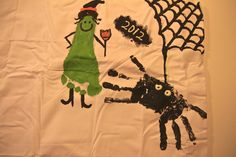 OMG, This is GENIUS! A Keepsake Trick or Treat Sack! A place to add all of the cute hand/ footprint Halloween art each year!~Life Sprinkled With Glitter
