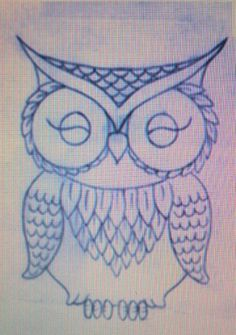 Drawing inspiration for guest book Owl Applique, Art Drawings, Drawing Owls, Owl Pictures, Animal Sketches, Owl Art, Stone Painting, Painted Rocks, Art Lessons