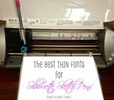 Silhouette School: Sketch Pen Fonts: The Best Thin Fonts for Silhouette