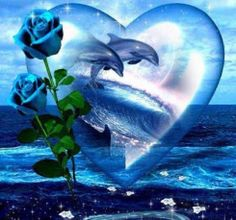 DIY Diamond Painting Blue Roses Dolphins in Heart - craft kit – TurquoiseRoads Diamond Drawing, 5d Diamond Painting, Dauphin Rose, Dolphins Tattoo, Dolphin Art, Baby Dolphins, Wale, Photomontage, Marine Life