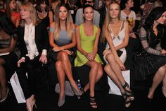 Front Row at Fashion Week Requires Limber Legs - The New York Times Odette Annable, Daisy Fuentes, Maria Sharapova, Celebrity Feet, Ny Times, Front Row, Legs, Beauty, Image