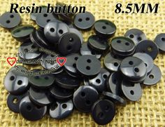 300pcs 8.5MM black Resin kid buttons sweater for sewing button dress craft R-045-13 $2,98