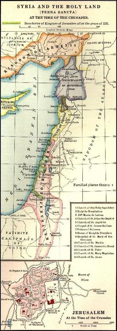 Map of Syria and the Holy Land