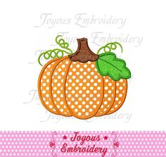 Instant Download Thanksgiving Pumpkin Applique Embroidery Design NO:1544 by JoyousEmbroidery on Etsy https://www.etsy.com/listing/199081705/instant-download-thanksgiving-pumpkin