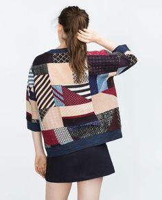 Image 1 of PATCHWORK SWEATSHIRT from Zara