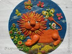 Painting mural drawing Craft Applique product of plasticine + reverse Modeling Clay Quartet + 3 photos