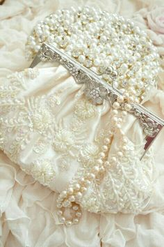 pearls, lovely, and purse image